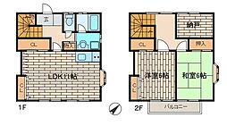 [テラスハウス] 東京都町田市木曽東3丁目 の賃貸【/】の間取り