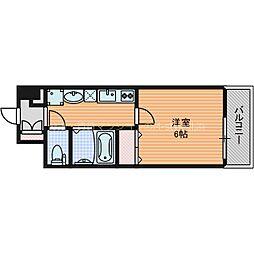 プレミアムステージ新大阪駅前2 8階1Kの間取り