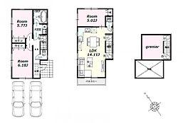 建物参考プラン:間取り/3LDK、延床面積/71.18?、土地建物参考価格/6980万円(税込)