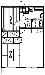 メゾン・ド・亜樹[3階]の間取り