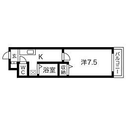 ハイツ相[5階]の間取り