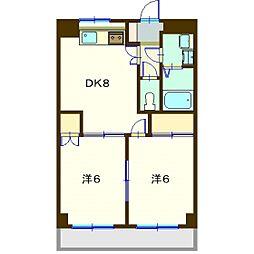 カ−サヤマエ[2階]の間取り