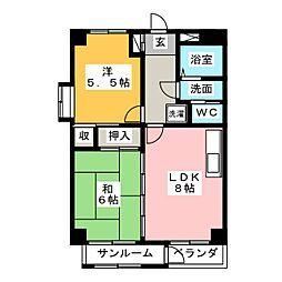 アーク302[3階]の間取り