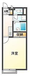 神鉄三田線 道場南口駅 徒歩19分の賃貸マンション 3階1Kの間取り