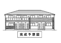 岡山県岡山市東区瀬戸町万富の賃貸アパートの外観