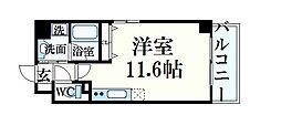 JR東海道・山陽本線 住吉駅 徒歩1分の賃貸マンション 5階ワンルームの間取り