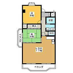 エステイタスKNー6[2階]の間取り