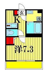 リブリ・T.KII 1階1Kの間取り