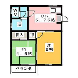 シティハウスあずら[2階]の間取り