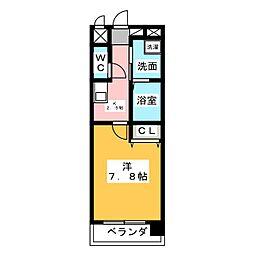 愛知県名古屋市昭和区川名町4の賃貸マンションの間取り