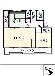 桜ヶ丘ハイツB[3階]の間取り
