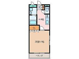 三重県松阪市肥留町の賃貸アパートの間取り