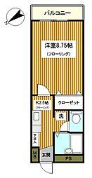 神奈川県横浜市保土ケ谷区川島町の賃貸マンションの間取り