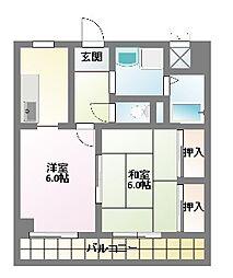 坂崎ビル[4階]の間取り