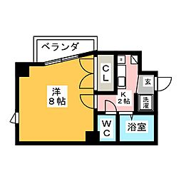 アドバンス竹越[5階]の間取り