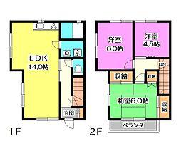 [テラスハウス] 東京都清瀬市中清戸1丁目 の賃貸【/】の間取り