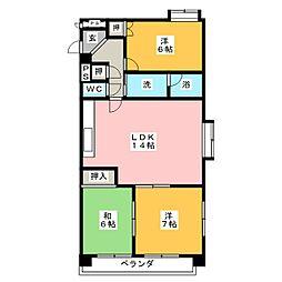 セゾン桜[2階]の間取り