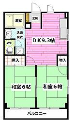 広島県広島市安佐南区長束2丁目の賃貸アパートの間取り