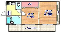 タマキビル[3階]の間取り