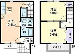[テラスハウス] 千葉県香取郡神崎町神崎神宿 の賃貸【/】の間取り