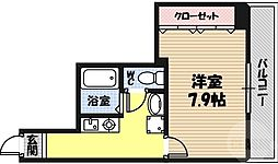 M'プラザ蒲生四駅前 9階1Kの間取り