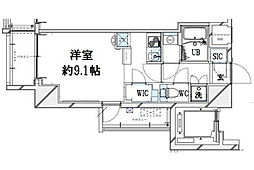 グランリーヴェル横濱大通公園[6階]の間取り