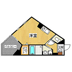 埼玉県越谷市赤山本町の賃貸マンションの間取り