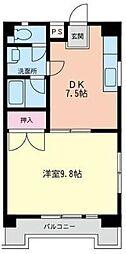 神奈川県座間市相模が丘1の賃貸マンションの間取り