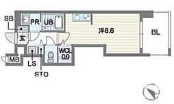 レキシントン・スクエア 白金[3階]の間取り