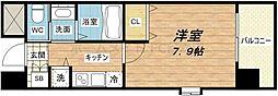 クラウンハイム北心斎橋フラワーコート[4階]の間取り