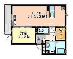 サニーハイツ青山B棟[1055号室]の間取り