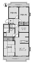 リヴェール町田III[1階]の間取り