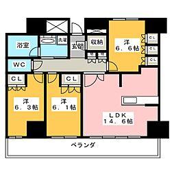 ザ・ライオンズ一条タワー岐阜[31階]の間取り