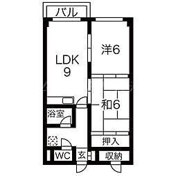 ルミノーソ2[2階]の間取り