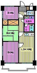 センチュリー浦和[5階]の間取り