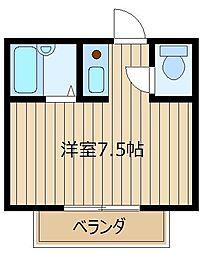 コーポ佐藤[202号室]の間取り