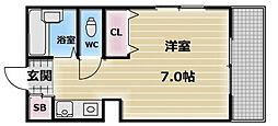 大阪府東大阪市足代北2の賃貸マンションの間取り