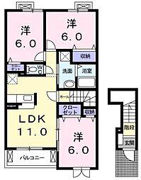 ザ・グレース(エアコン付き)[2階]の間取り