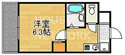 ハイポジション銀閣寺[209号室号室]の間取り