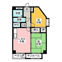 アーク302[2階]の間取り