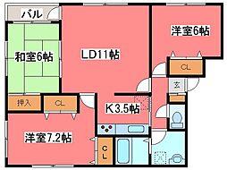 北海道札幌市豊平区西岡三条11丁目の賃貸マンションの間取り