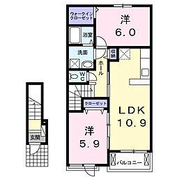 リズィエールII[2階]の間取り
