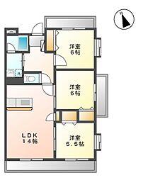 ジューダンブルクII[4階]の間取り