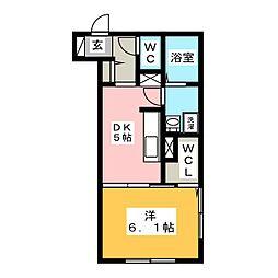 ウィングパレス津島笹が瀬[1階]の間取り