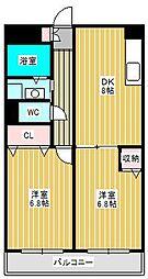 ルナパーク21[1階]の間取り