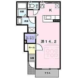 ジェントリー2[1階]の間取り