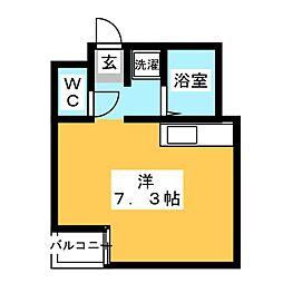 E−Life渡辺通り[3階]の間取り