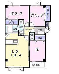 北海道札幌市東区北五十一条東7丁目の賃貸アパートの間取り