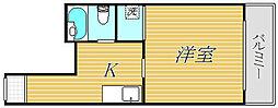 東京都板橋区前野町1丁目の賃貸マンションの間取り