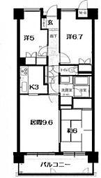 古江パーク・ホームズ(412)[2階]の間取り